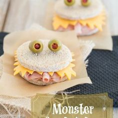 Monster sandwiches! Perfect for a surprise snack or Halloween.