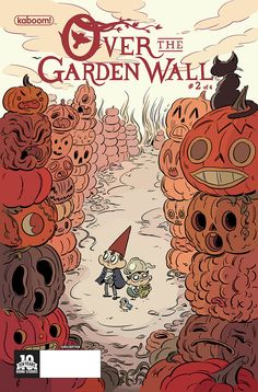 OverTheGardenWall -Boston based cartoonist/animator Bob Flynn, illustrated a variant cover for the latest issue of Kaboom's Over the Garden Wall. Flynn has been contributing comics and covers to titles like SpongeBob Comics, ARGH!, Nickelodeon Magazine, and Heeby Jeeby Comix, which he co-created. I really like his bubbly, liquid-y, cartoon drawings; they really ooze to life on the page!