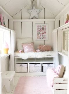 Teenage girl bedroom decor guide To avoid this, then pick the tone all on your own. You can allow them to find some good bright furniture or accents. Playhouse Decor, Playhouse Interior, Playhouse Furniture, Girls Playhouse, Build A Playhouse, Playhouse Outdoor, Wooden Playhouse, Inside Playhouse, Playhouse Ideas