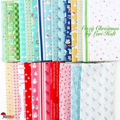 Cozy Christmas fabric line (2016) by Lori Holt for Riley Blake Designs | via Red Brolly