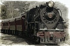 Lokomotive, Dampflokomotive, Zug