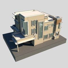 Modern Bungalow 1 Model available on Turbo Squid, the world's leading provider of digital models for visualization, films, television, and games. Modern Bungalow, 3d Animation, Bookends, Cool Designs, Digital, Building, Model, Cnc Router, Room