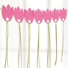 DIY tulip garland tutorial: how to make a tulip garland