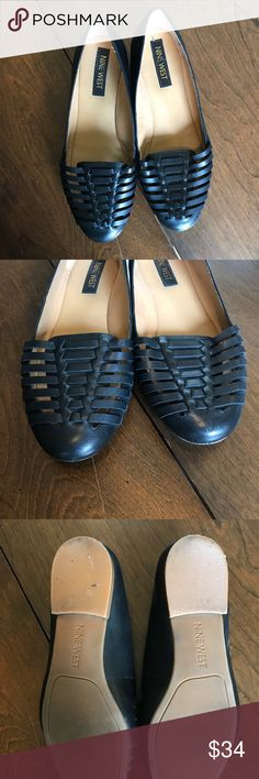 Nine West basket weave huarache flats A more sophisticated huarache shoe from Nine West. Great with jeans or dresses or skirts! A great flat for everyday wear. I'm excellent condition! Nine West Shoes Flats & Loafers