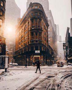 Fotografías de la animada calle de la ciudad de Nueva York por Henry Kornaros
