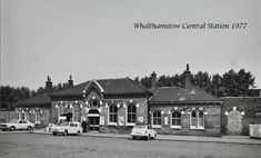 Walthmstow Central Railway station forecourt in 1977Alan Russell (@soxgnasher) on Twitter Old London, East London, London History, As Time Goes By, Transportation, England, Mansions, Twitter, House Styles