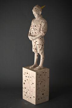 Gehard Demetz - Contemporary Artist - Wood Sculpture - 2008 - I see Island.