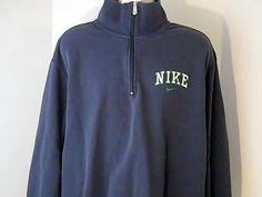 Nike Mens 2 XL Blue White Green Sweat Shirt Cotton Polyester #Nike #Sweatshirt