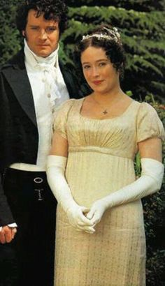 Colin Firth and Jennifer Ehle as Darcy and Elizabeth, from the BBC miniseries version of *Pride and Prejudice*