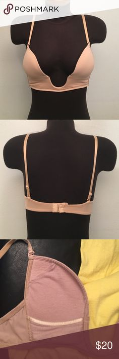 Deep Cut Bra Bra made to be worn with a low cut neckline. It's very good used condition! Straps are adjustable. Fashion Forms Intimates & Sleepwear Bras