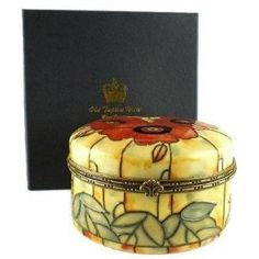 Yellow Poppy Design Boxed Gift Old Tupton Ware (1681)