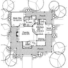 Country Style House Plan - 3 Beds 3 Baths 2112 Sq/Ft Plan #120-134 Main Floor Plan - Houseplans.com