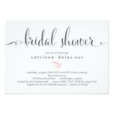 Whimsical Calligraphy Bridal Shower Invitation