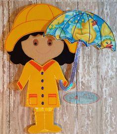 Raincoat Outfit for 10 Felt Girl Doll Felt by SophiasKidKaboodle