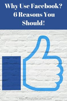"One of the first questions people new to social media marketing often ask is ""Why use Facebook?""  Here are 6 Reasons You Can't Afford To Ignore Facebook!  http://simplysocialyou.com/blog/why-use-facebook/"