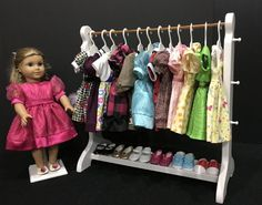 American Girl Doll: 21-inch white doll clothes rack.  Will accommodate American Girl Brand hangers. by BedsandThreads