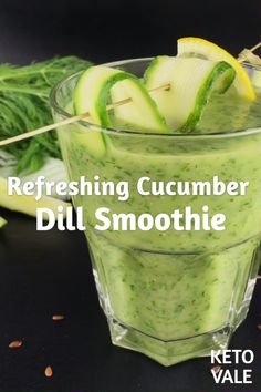Looking for a keto smoothie recipe? Try this cucumber dill low carb smoothie! Looking for a keto smoothie recipe? Try this cucumber dill low carb smoothie! Smoothie Diet Plans, Keto Smoothie Recipes, Low Carb Smoothies, Smoothie Cleanse, Cleansing Smoothies, Cucumber Smoothie, Cucumber Cleanse, Cucumber Juice, Celery Juice