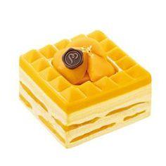 Mango jello mousse cake