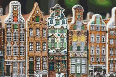 Amsterdam Buildings ... by DreamsOfAvalon | Embroidery Pattern - Looking for a embroidery pattern for your next project? Look no further than Amsterdam Buildings II Cross Stitch from DreamsOfAvalon! - via @Craftsy - $3.75
