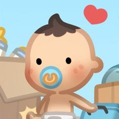 Having baby chase is a wonderful and loving experience and better everyday. However, I think this is how it really felt like. A little human just appeared out of no where suddenly and started liv… Real Love, What Is Love, Hj History, Love Time, Cartoons Love, Cute Clipart, Small Moments, New Parents, Cute Dolls