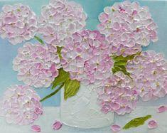 Custom Original Ranunculus  Impasto  Painting Cottage Chic