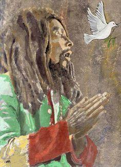 Love & Peace Bob Marley Kunst, Bob Marley Art, Reggae Bob Marley, Bob Marley Quotes, Art Music, Music Artists, Bob Marley Pictures, Rasta Pictures, Reggae Art