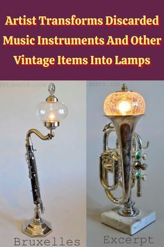 #Artist #Transforms #Discarded #Music #Instruments #Vintage #Items #Lamps Festival Looks, Angelina Jolie Style, Stylist Tattoos, Pizza Recipes, Beef Recipes, Dinner Recipes, Cardigan Outfits, Vignettes, Orange Popsicles