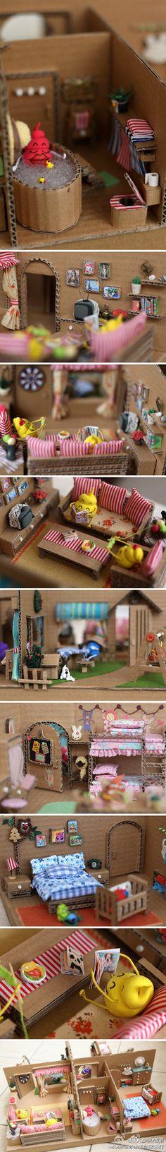 参展的迷你小物便便的温馨家园,很精致很可爱,作者真有才 - 堆糖 发现生活_收集美好_分享图片