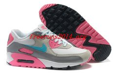 Nike Air Max 90 Womens Hot Pink Club Purple White 302519 796