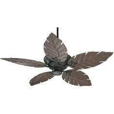 """51"""" Quorum Monaco Old World Patio Ceiling Fan ($330) ❤ liked on Polyvore featuring home, outdoors, outdoor decor, brown, ceiling fans, leaf ceiling fan, quorum ceiling fans, outdoor garden decor and outside ceiling fans"""