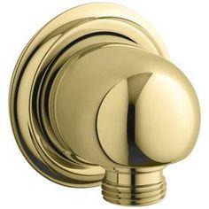Kohler Vibrant Polished Brass Shower Arm And Flange 355-Pb