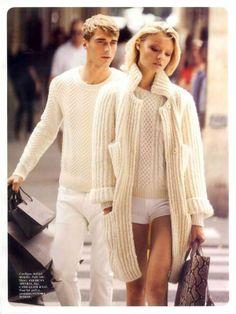 4e173fd42a Magdalena Frackowiak and Toni Garrn for Vogue Paris White Wardrobe
