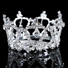 Beauitful Alloy and Rhinestiones Wedding Bridal Tiara/Combs
