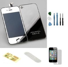Iphone 4 GSM (At&t) Complete Color Change Kit (Mirror Silver) #http://www.pinterest.com/ordercases/
