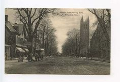 Princeton-NJ-Dirt-Street-View-Horse-Wagon-Postcard
