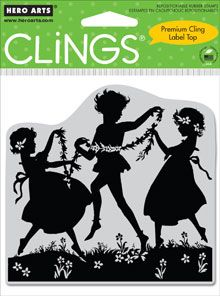 Dancing With Flowers Cling Stamps from Hero Arts