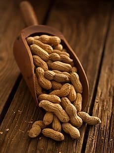 Scoop of peanuts on wooden texture by Daniel Hurst - Stocksy United Fruit And Veg, Fruits And Vegetables, Die Peanuts, Café Chocolate, Great Recipes, Healthy Recipes, Fruit Photography, Dried Fruit, Plant Based Recipes