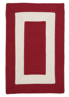 Rope Walk Indoor-Outdoor Area Rug - Red and White