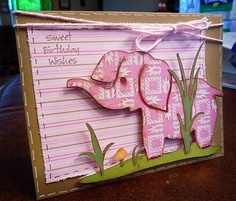 Adorable card for a little girl