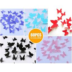 Kakuu Butterfly Wall Decals Butterflies wall stickers Removable Mural decor Wall Stickers Decals Wall Decor Home Decor Kids Room Bedroom Decor Living Room Decor 5 Colors ** Read more at the image link. (This is an affiliate link) Living Room Decor, Bedroom Decor, Wall Decor, 3d Butterfly Wall Stickers, Wall Stickers Murals, At Home Store, Kids House, Butterflies, Kids Room