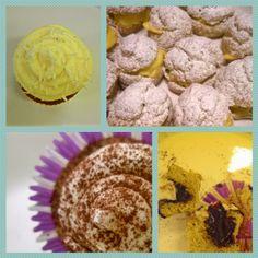 Cupcakes e bignè per la festa della donna 8 marzo