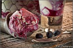 Blueberries and Cream Gelato