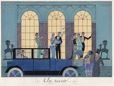 """'Au revoir' by G. Barbier from """"Le Bonhour du Jour ou Les Graces a la Mode"""""""