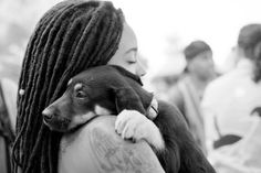 Locs and a cute puppy!
