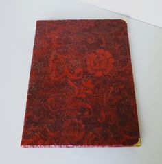 Ring Binder A4 Large leather journal Red leather by AnnaKisArt