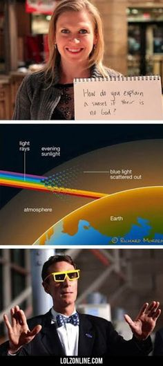 How Do You Explain A Sunset If There Is No...