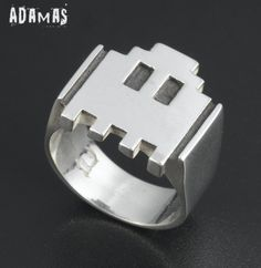 Sterling Silver Pac-Man ring by Adamas