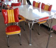 Retro Dining Tables And Cupboards On Pinterest Dinette Sets Formica Table