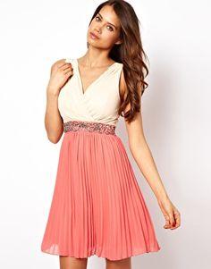 Little Mistress Cross Over Pleat Skirt Dress... I want this dress for my rehearsal dinner. *dreams*