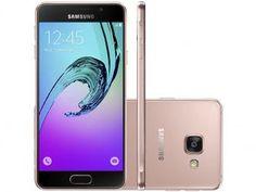 "Smartphone Samsung Galaxy A3 2016 16GB Rosê - Dual Chip 4G Câm. 13MP + Selfie 5MP Tela 4.7"" HD"
